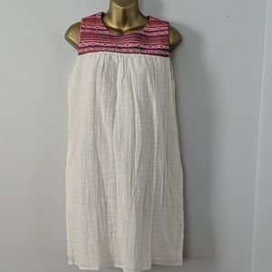 C&C embroidered linen dress small new